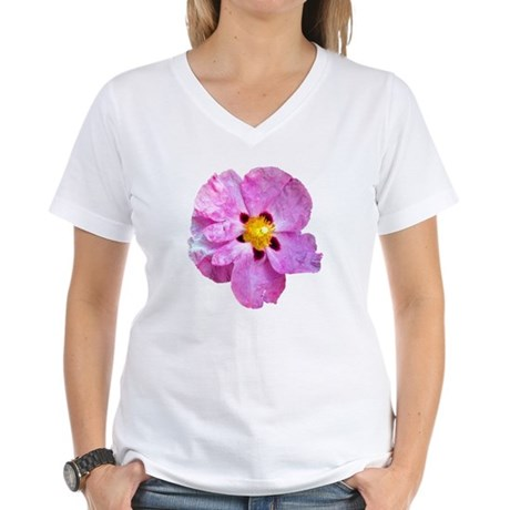Spot Flower Women's V-Neck T-Shirt