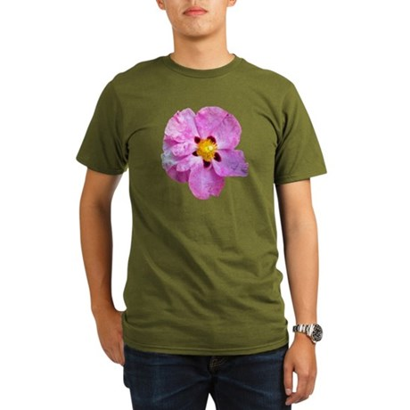 Spot Flower Organic Men's T-Shirt (dark)