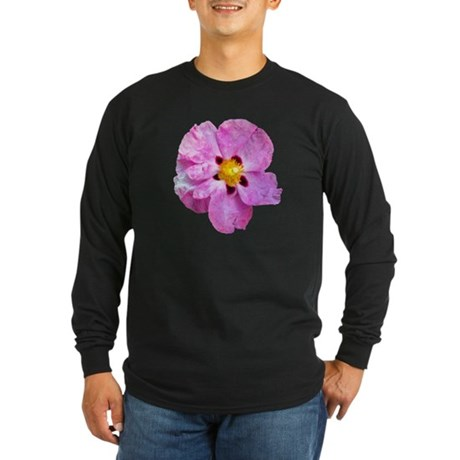 Spot Flower Long Sleeve Dark T-Shirt