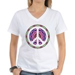 CND Floral5 Women's V-Neck T-Shirt
