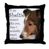 Friendly Sheltie Throw Pillow