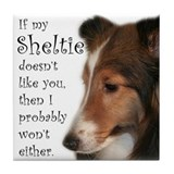 Friendly Sheltie Tile Coaster