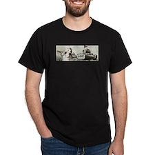 Militant Chihuahua w/ Tanks -Black T-Shirt