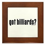 got billiards? Framed Tile