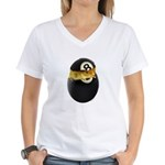 Billiards Chick Women's V-Neck T-Shirt