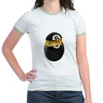 Billiards Chick Jr. Ringer T-Shirt