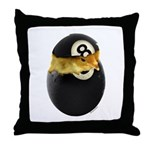 Billiards Chick Throw Pillow