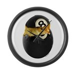 Billiards Chick Large Wall Clock