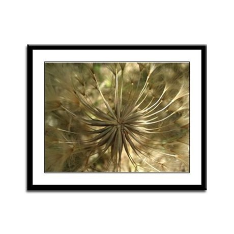 Warm Gold Globe Framed Panel Print