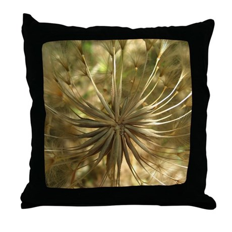 Warm Gold Globe Throw Pillow