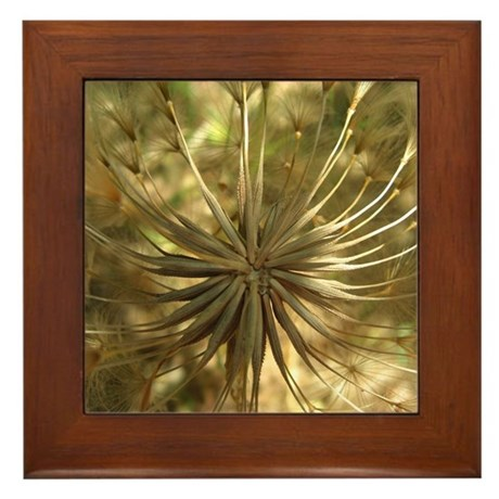 Warm Gold Globe Framed Tile