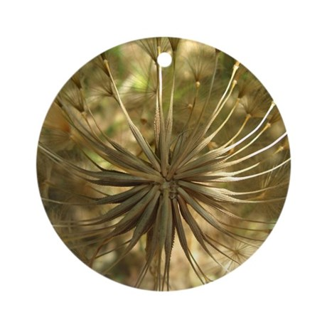 Warm Gold Globe Ornament (Round)