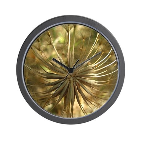 Warm Gold Globe Wall Clock