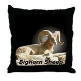 Bighorn Sheep Throw Pillow