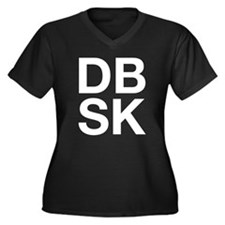 DBSK (W) Women's Plus Size V-Neck Dark T-Shirt