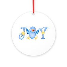 Joy: Bluebird Ornament (Round)