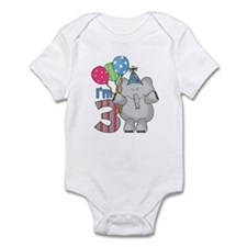Lil Elephant 3rd Birthday Infant Bodysuit