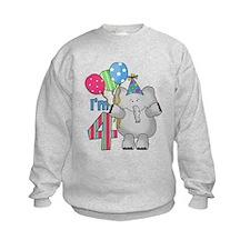 Lil Elephant 4th Birthday Sweatshirt