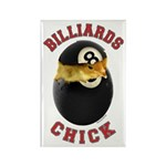 Billiards Chick 2 Rectangle Magnet (10 pack)