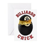 Billiards Chick 2 Greeting Cards (Pk of 20)