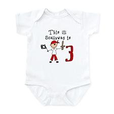 Stick Pirate 3rd Birthday Infant Bodysuit
