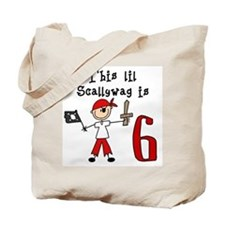Stick Pirate 6th Birthday Tote Bag
