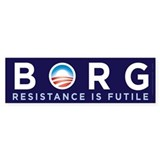 Obama Borg Bumper Bumper Sticker