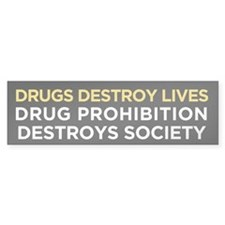 Drug Prohibition Bumper Sticker (50 pk)