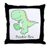 Pookie Rex Throw Pillow