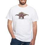 Stegosaurus Dinosaur White T-Shirt