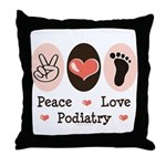 Peace Love Podiatry Throw Pillow
