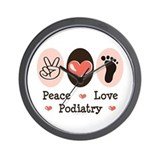 Peace Love Podiatry Wall Clock