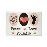 Peace Love Podiatry Rectangle Magnet (10 pack)