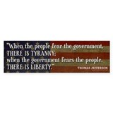 Jefferson: Liberty vs. Tyranny Bumper Stickers