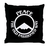 Peace with Stealth Throw Pillow