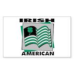 Irish American Rectangle Sticker
