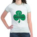 Ireland Shamrock Jr. Ringer T-Shirt