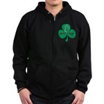 Ireland Shamrock Zip Hoodie (dark)