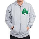 Ireland Shamrock Zip Hoodie