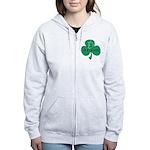 Ireland Shamrock Women's Zip Hoodie