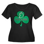 Ireland Shamrock Women's Plus Size Scoop Neck Dark