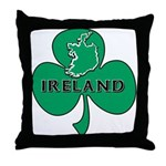 Ireland Shamrock Throw Pillow
