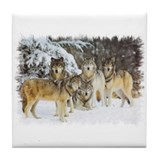 """Wolf Pack"" Tile Coaster"