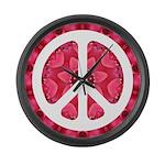 Flower Power Large Wall Clock