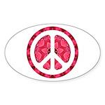Flower Power Oval Sticker