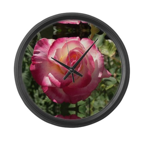 Blushing Rose Large Wall Clock