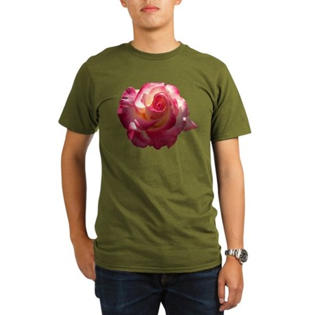 Blushing Rose Organic Men's T-Shirt (dark)