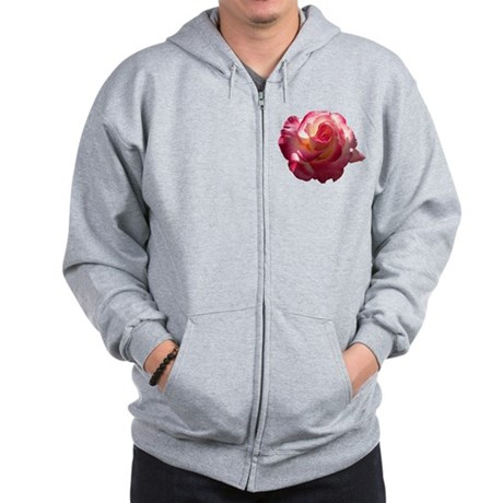 Blushing Rose Zip Hoodie
