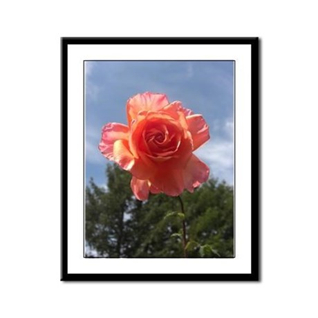 Sky Bloom Framed Panel Print