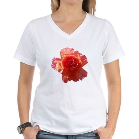 Sky Bloom Women's V-Neck T-Shirt